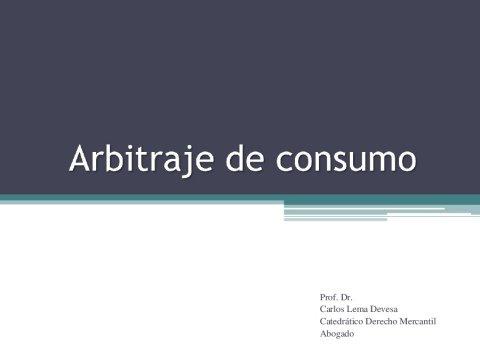 A arbitraxe de consumo  - Curso monográfico sobre A Administración Pública como garante da competencia e dos intereses dos comsumidores